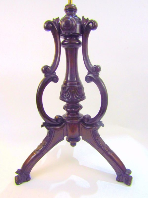 English Mid Victorian Carved Walnut Music Stand