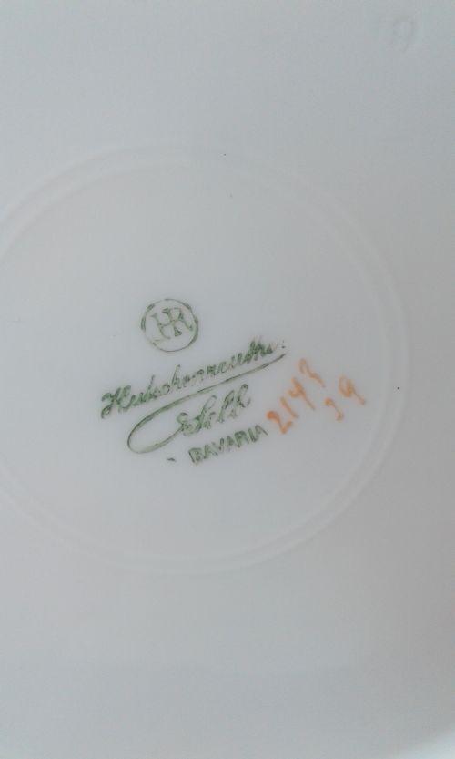 Framed Fine Hutschenreuther Fruitplates, plum, apple, cherry