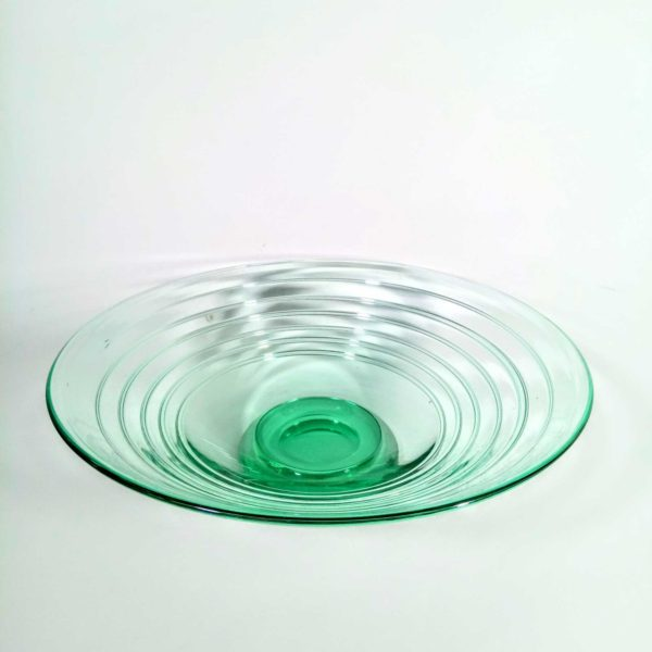 Whitefriars glass art deco footed dish, from Narissa Mather